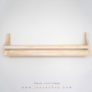 شلف چوبی هور پتینه سفید
