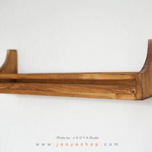 شلف چوبی هور رنگ قهوهای