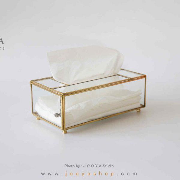 جعبه دستمال کاغذی شیشهای