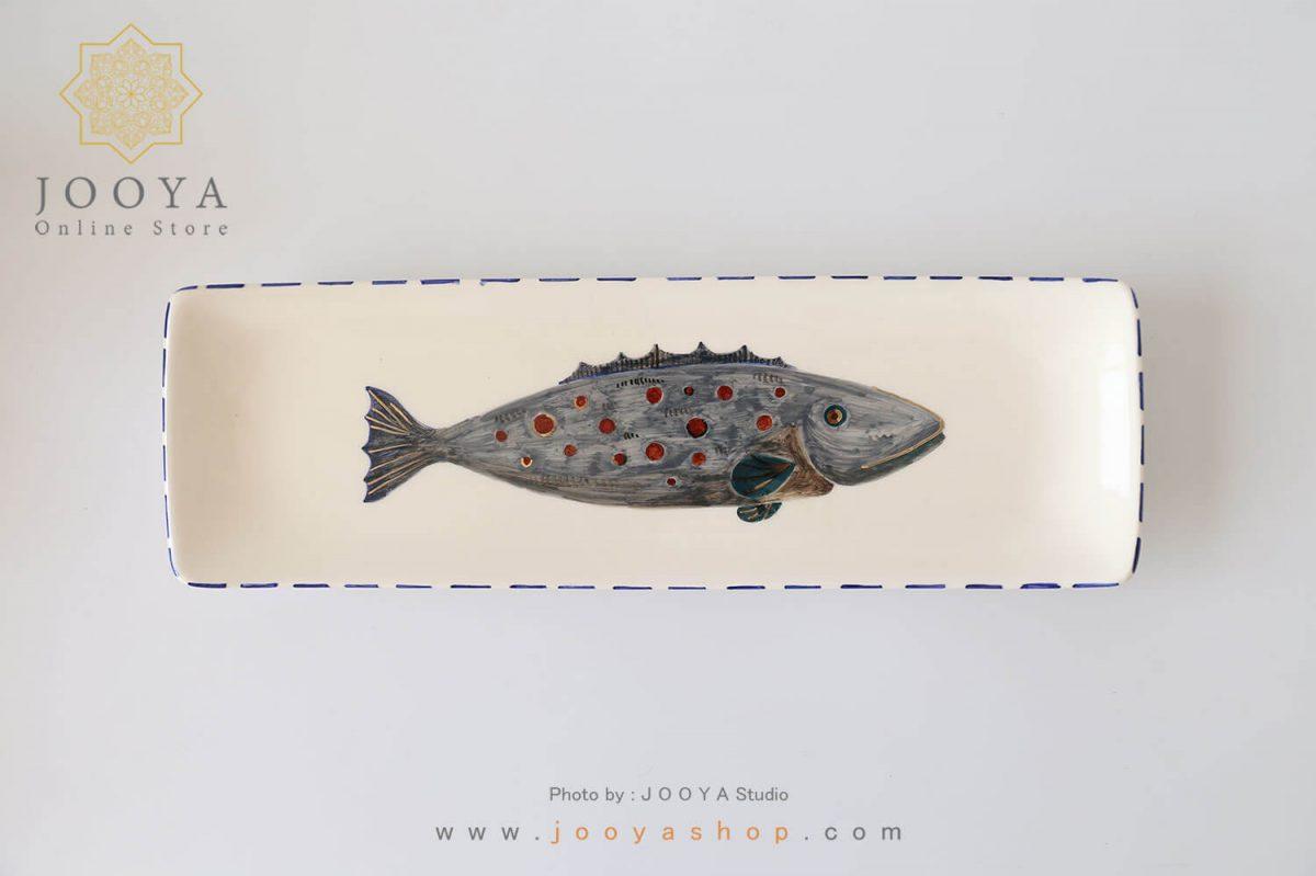 رولت خوری سرامیکی طرح ماهی