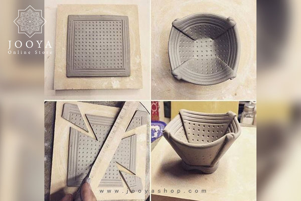 ساخت ظرف سفالی با دست به روش صفحهای یا اسلب