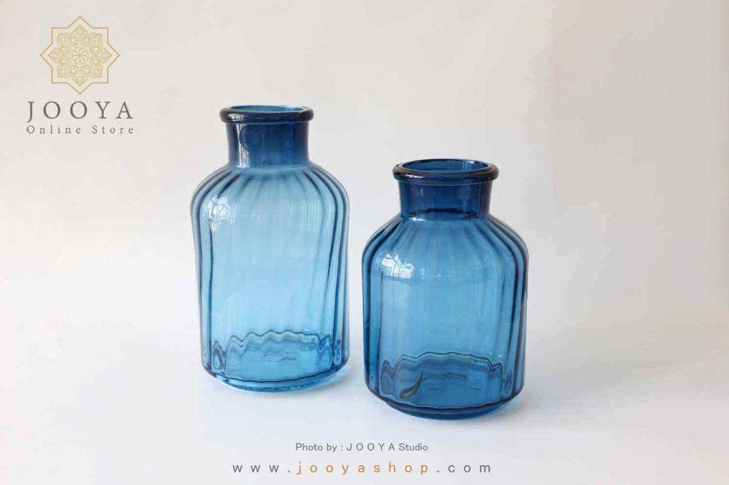 گلدان شیشهای بزرگ کاربنی