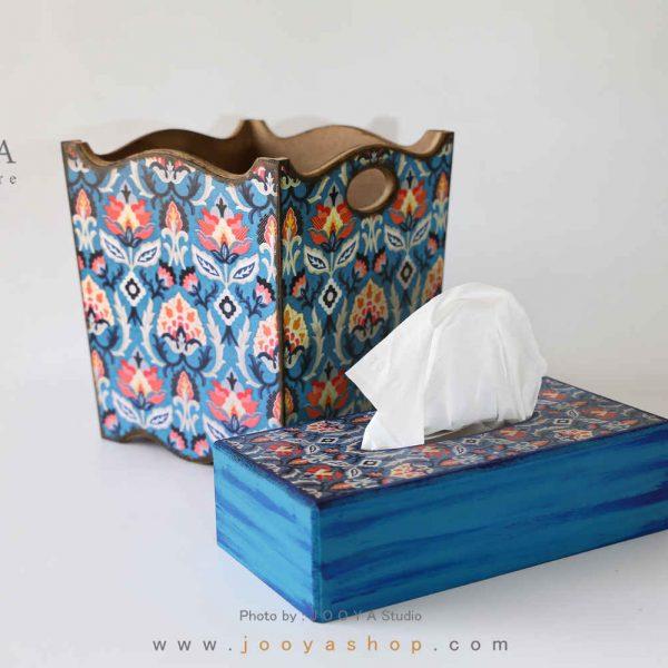 ست سطل و جعبه دستمال کاغذی طرح زمستان