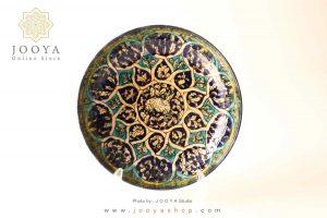 دیس سفالی نقاشی شده متاثر از آثار قرن ۸ سلطانآباد