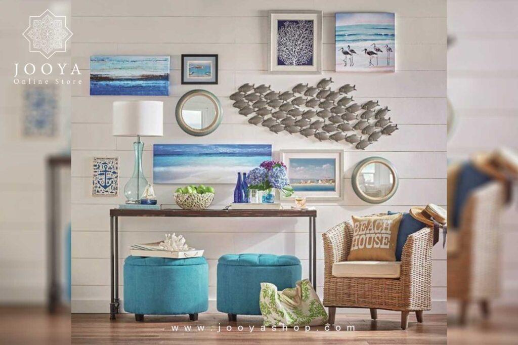 انواع لوازم دکوراتیو در دکوراسیون داخلی به سبک ساحلی