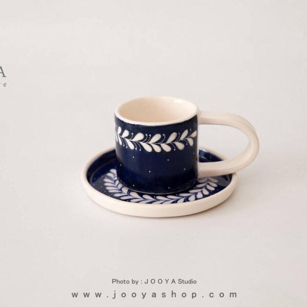 فنجان و نعلبکی اسکراچ زیتون