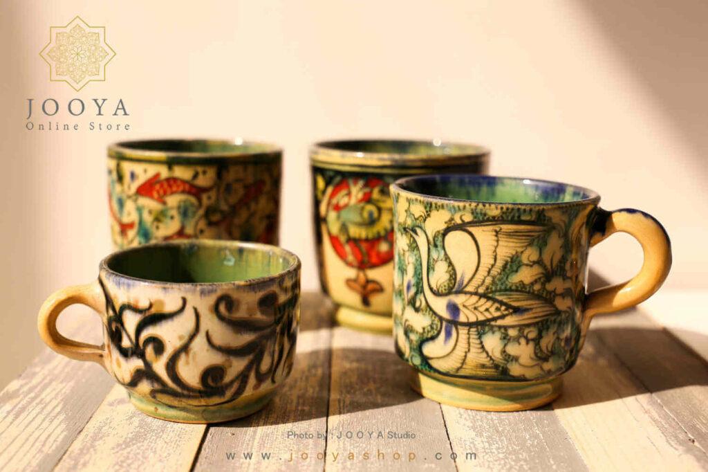 ایدههای طراحی و رنگ آمیزی ظرف سفالی