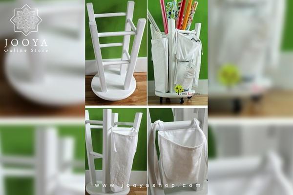 استفاده از چهارپایه برای گذاشتن وسایل پرکاربرد و دم دستی