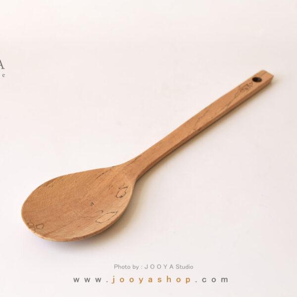کفگیر چوبی بیضی