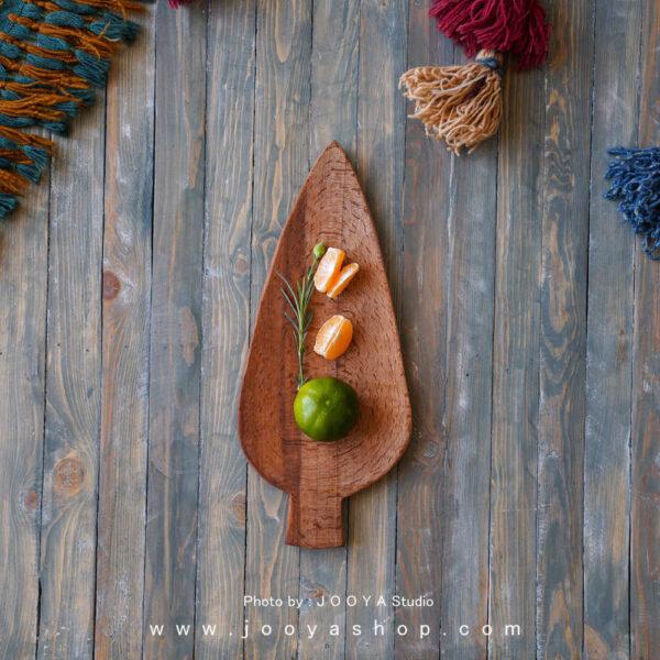 سینی چوبی برگ