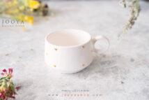 فنجان سرامیکی قلب سفید