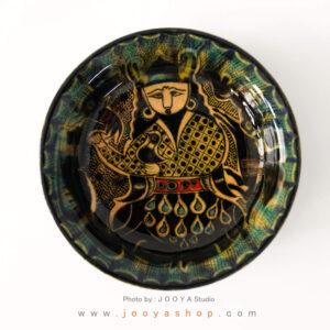 بشقاب سفالی نقاشی شده متاثر از آثار قرن ۴ عراق