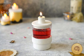 شمع مخزندار جادو سفید