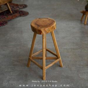 چهارپایه چوبی غروب