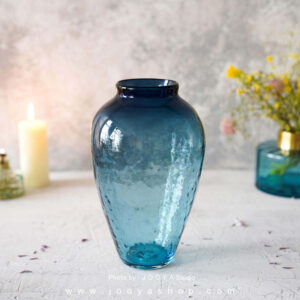 گلدان شیشهای لاجورد لونا