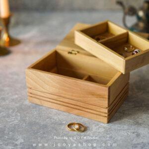 جعبه جواهرات چوبی خاطره
