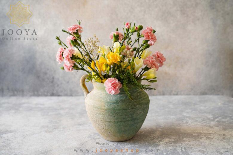 گلدان سفالی بهار