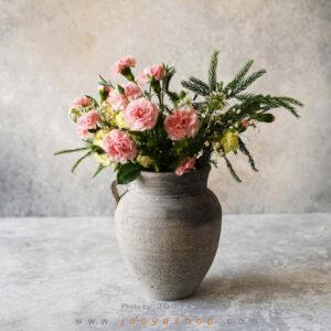 گلدان سفالی بهرخ