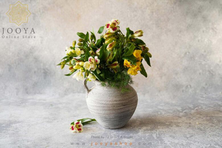 گلدان سفالی بهرنگ