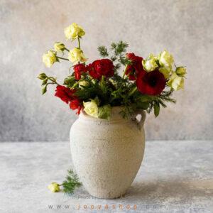 گلدان سفالی آذین