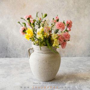 گلدان سفالی مهر