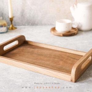 سینی چوبی سرخدار
