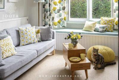 خاکستری روشن و زرد رنگهایی عالی برای تغییر دکوراسیون و تغییر روحیه
