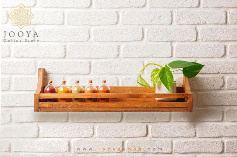 شلف چوبی دیواری