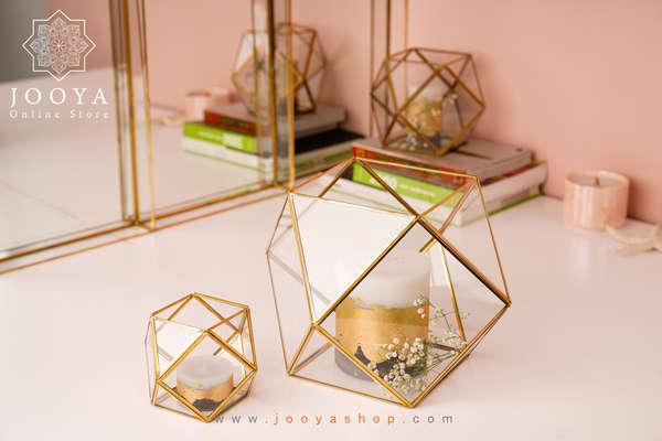 شمع آرایی در باکس های شیشه ای