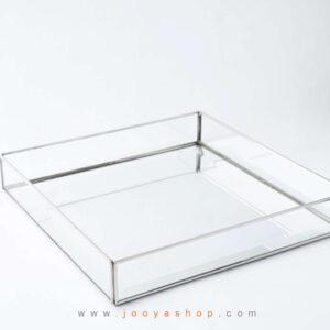 سینی مدل کهربا کف آینه بدون دسته