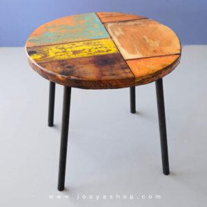 میز چوبی روستیک لرکا