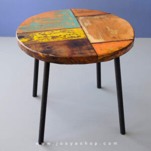 خرید میز عسلی روستیک چوبی