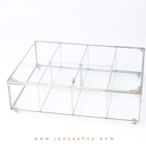 جعبه پذیرایی شیشهای الماس آلاسکایی