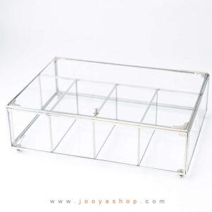 جعبه پذیرایی شیشه ای هانیل
