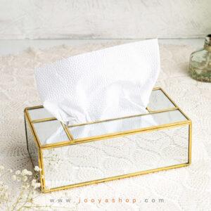 جعبه دستمال کاغذی تمام آینه