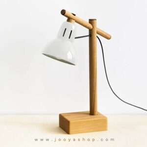 چراغ مطالعه چوبی طوسی