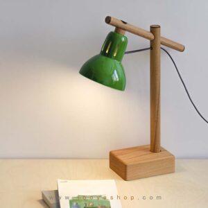 چراغ مطالعه چوبی سبز