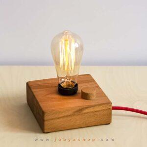 چراغ رومیزی چوبی مدرن کیمیا