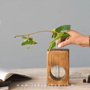 خرید گلدان چوبی ارزان