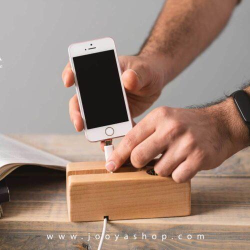خرید هولدر موبایل چوبی