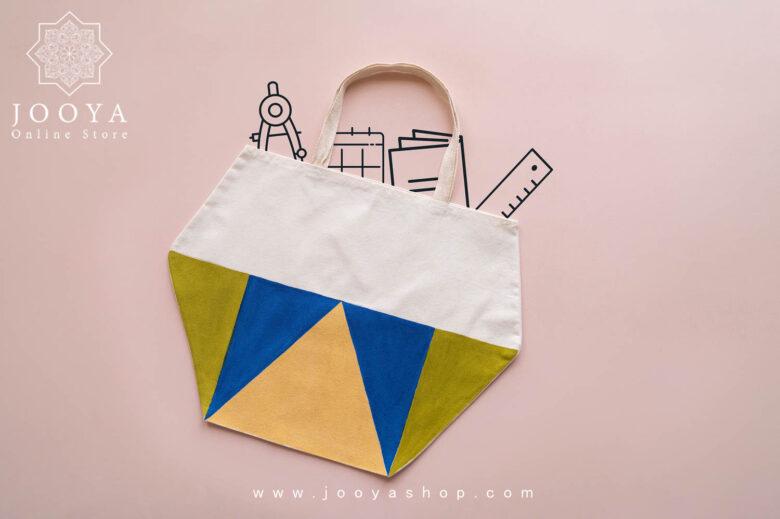 ساک پارچه ای طرح مثلث