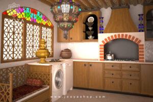 طراحی آشپزخانه به روش معماری آشپزخانههای قدیمی ایرانی