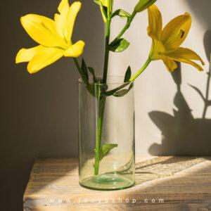 گلدان شیشه ای استوانه