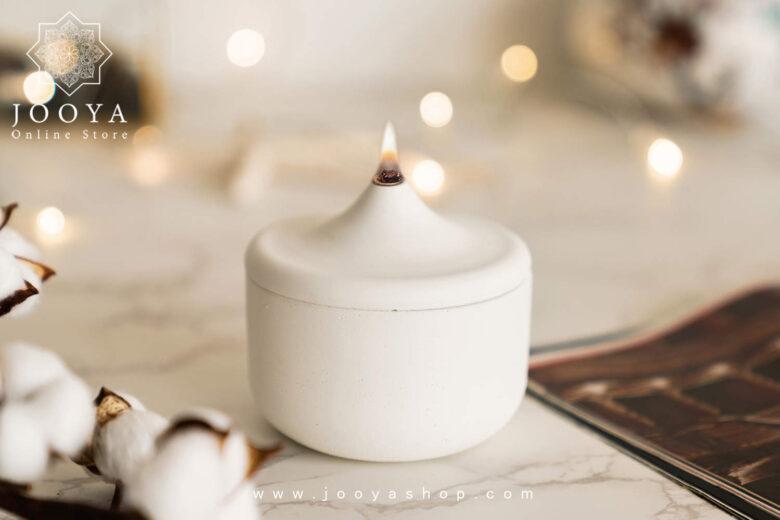 شمع سفید ساده