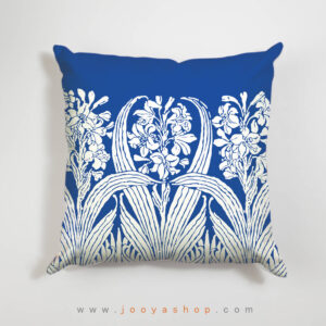 کوسن طرح شاخه گل آبی