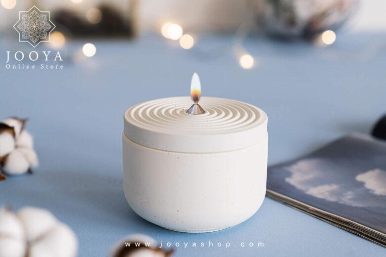 شمع طح اثر سفید